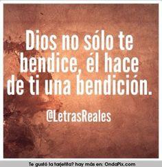Dios no solo te bendice