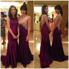 #purple #eveninggown #gaunpesta #dresspesta