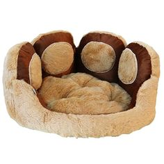 Cama Pata de Pelúcia e Velboa Divina Raça - MeuAmigoPet.com.br #petshop #cachorro #cão #meuamigopet