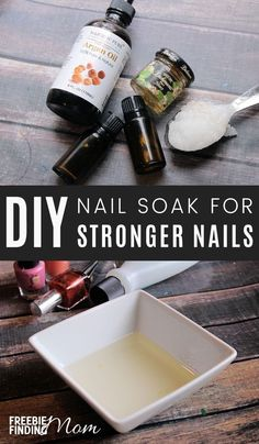 Are your nails thin, brittle or torn? Here you will learn how to strengthen your nails by using homemade nail soaks. You just need coconut oil, argan oil, honey and a couple of essential oils to create a powerful natural nail care recipe that with repeate