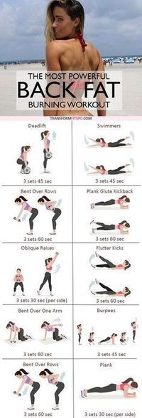Repin and share if this crazy workout melted away your back fat! Ladies, it's time to bring sexy BACK!