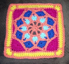 Ravelry: Project Gallery for Sun Catcher Afghan Square pattern by Julie Yeager