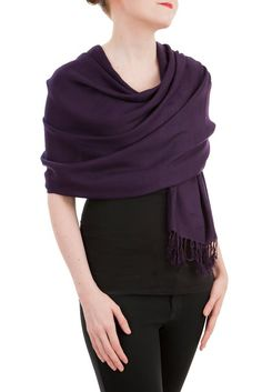 Opulent Luxury Pashmina Scarf Shawl is woven from the finest 100% Thai Silk wool which gives you the right amount of coverage during the colder seasons. Produced from two silkworms that spin a cocoon together. This makes a strong double-thread silk, usually resulting in a rough yarn which is strong and lustrous.