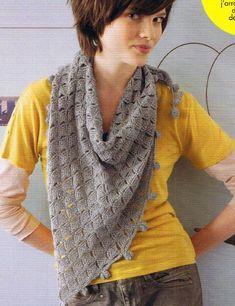 Crochet Shawl - Chart ❥ 4U // hf