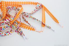 DIY fabric shoelaces | Make It and Love It