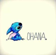 """Stitch - OHANA signifie """"famille"""", """"famille"""" signifie que personne ne doit être abandonner ni oublier"""