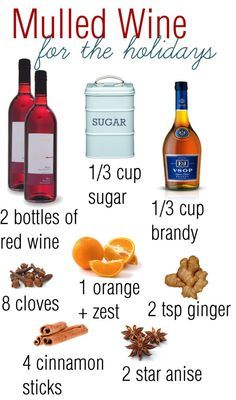 """""""Mulled Wine Recipe"""" would be yummy, but need to half the recipe since I'm the only one who drinks wine. Holiday Drinks, Party Drinks, Cocktail Drinks, Holiday Treats, Christmas Treats, Christmas Baking, Fun Drinks, Yummy Drinks, Holiday Recipes"""