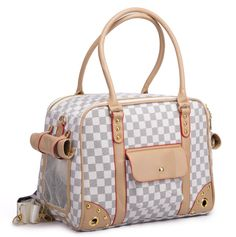 C1 New Luxury Leather Pet Dog Carrier Bag Breathable Portable Travel Dog Carrier Handbag High Quality Small Dog Cat Carrier Ba