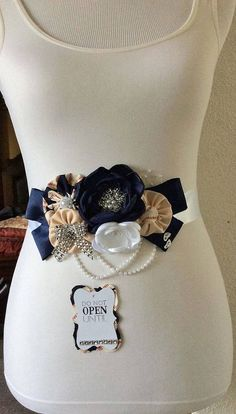 Baseball Maternity Sash Do Not Open Sash by BridalBlingNBowtique