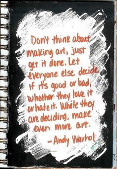 Quote by artist Andy Warhol