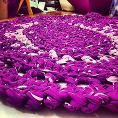 Eva's crocheted rug #projectbunway #reuse #crafts