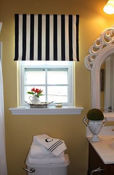Cheap and easy project for the nursery windows - probably that sunny yellow IKEA fabric.