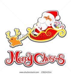 Christmas santa on the white background vector illustration  - stock vector