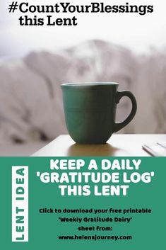 Click to download your free printable 'Weekly Gratitude Diary' to log something to be #thankful for each day during #LENT & Learn THE POWER OF #THANKFULNESS by keeping a daily GRATITUDE LOG to bring #PERSPECTIVE & JOY! A #GratitudeChallenge for all ages #lentideas #lentchallenge #bethankful #gratitude #gratitudelog #gratitudediary #lantern #countyourblessings #grafeful Grateful, Thankful, Christian Inspiration, Lent, Inner Peace, Helping Others, Gratitude, Life Lessons, Free Printables