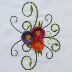 Delicate Tassel Flowers Set | What's New | Machine Embroidery Designs | SWAKembroidery.com Mar Lena Embroidery