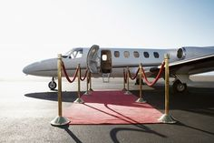 Private Jet and Red Carpet