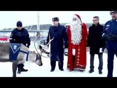 Santa Claus and Police reindeer Artturi declare Christmas peace for roads in Lapland