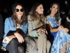 Olivia Palermo Photos Photos - (L-R) Zoe Kravitz, Olivia Palermo and Louise Roe attend the Rebecca Taylor Fall 2012 fashion show during Mercedes-Benz Fashion Week at The Stage at Lincoln Center on February 10, 2012 in New York City. - Rebecca Taylor - Front Row - Fall 2012 Mercedes-Benz Fashion Week