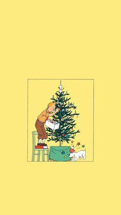 아이폰 tintin 에르제땡땡 캐릭터 배경화면_01 : 네이버 블로그 Art Mignon, Christmas Wallpaper, Doodle Art, Cute Art, Art Inspo, Aesthetic Wallpapers, Art Reference, Illusions, Iphone Wallpaper