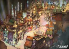 Folsense, concept art from Professor Layton and the Diabolical Box