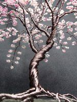 Cherry Blossom Beaded Bonsai Tree Sculpture #3 - 2 by Creativecravings on deviantART