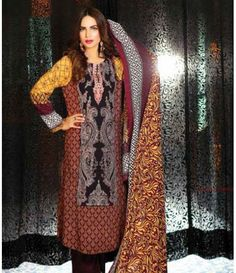 Lala Classic Embroidered Linen Suits collection LLE_08A