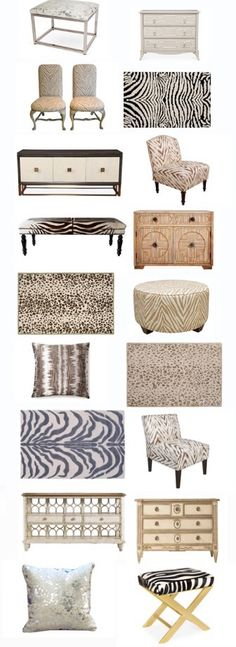 It is amazing what one good-quality, well-placed animal print can do for a room. I absolutely love this sale.
