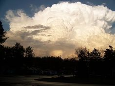 Storm cloud in Wisconsin Rapids, WI