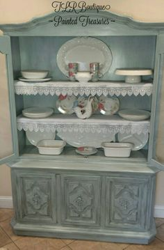 TLR Boutique shabby chic china cabinet