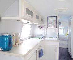 airstream renovation (I would probably add a little more color to the interior paint, but overall nicely done)