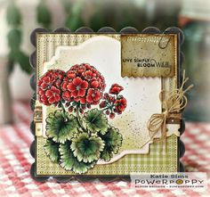 RED Geraniums by MattsGirl - Cards and Paper Crafts at Splitcoaststampers