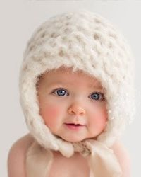 the perfect winter hat for a snow baby