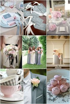 Cool pink and grey wedding ideas