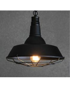 Cafe Black Pendant Light with cage - small 26cm $71 - Chic Chandeliers