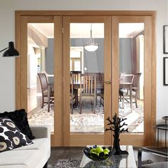 Easi-frame oak door and frame room dividers, just brilliant. Oak Door Frames, Oak Doors, Room Divider Doors, Room Dividers, Single Doors, Double Doors, Door Design Interior, Architrave, Door Sets