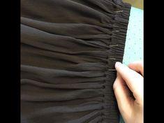 Как сделать красивую сборку на юбке