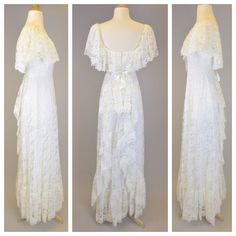 The Love Story 70s White Lace Boho Wedding Dress by RIPandROSE