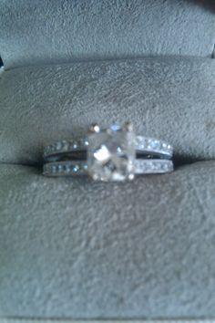 Beautiful Radiant Cut Engagement Ring   I Do Now I Don't Wedding Things, Dream Wedding, Wedding Day, Radiant Cut Engagement Rings, Wedding Events, Weddings, Bling Bling, Future, Pretty