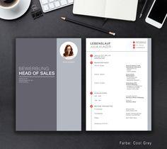 """Unsere Bewerbungsvorlage """"Office Classic"""" in der Farbe Cool Grey. Mit der Vorlage """"Office Classic"""" stechen Sie unter allen Mitbewerbern heraus. Zeigen Sie, dass die Zeit auch bei Bewerbungen nicht still steht. Sie erhalten von uns ein Deckblatt, Anschreiben, Lebenslauf, Motivationsschreiben und eine Abschlussseite. Die Datei bekommen Sie als fertige Pages- oder Word-Datei inklusive Platzhaltertext mit Hinweisen."""