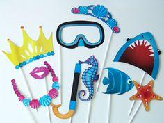 Accessoire photobooth sirène mariage anniversaire - Achat / Vente