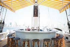 Seafood Restaurant w/ Best Water View: Grand Banks, Tribeca Restaurants In Nyc, Best Seafood Restaurant, Restaurant Design, Adrien Gallo, Oyster Bar Nyc, Best Oysters, Enjoy Summer, Happy Summer, Rooftop Bar
