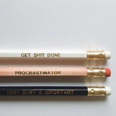 Procrastination Pencils
