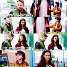 """[4x03 """"Rocky Road""""] I think I'm the only one in this fandom who liked Marian😅 I mean I'm well aware it was Zelena here but like all she wanted was to get back to her family. I mean how would you react if two strangers came up to you and said you're supposed to be dead and that they're from the future?😂 alsoo enjoy some of the little Roland cutie❤️❤️ - ↪️27 days! - [#ouat #onceuponatime #marian #maidmarian #roland #outlawmaiden #robinhood ]"""