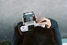 misconjectures: (by old✽love) Girls With Cameras, Old Cameras, Vintage Cameras, Camera Photography, Love Photography, Lifestyle Photography, The Mind's Eye, Old Love, Hard To Love