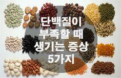 단백질이 부족할때 생기는 증상 5가지 단백질이 부족하면 몸에서 나타나는 증상에 대해서 알아보겠습니다.  1. 단 음식이 당긴다 몸안에 단백질이 부족하면 단 것이 계속 먹고 싶어지고, 식사를 해도 포만감을 잘 느끼지 못합니다. 2. 머리가 멍하다 단백질의 중요한 역할 중에 하나가 혈당을 유지하는 것인데, 단백질이 부족하여 혈당 수치가 정상이 아닐 경우 머리가 몽롱해지고 멍해질 수 있습니다.  3. 머리털이 빠진다 단..