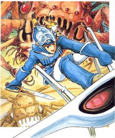 cover art from the Nausicaa of the Valley of the Wind manga by Hayao Miyazaki