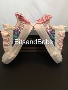 New Customised Crystal Mono Converse Infant. Bedazzled ShoesBling ShoesGlitter  ShoesShoes HeelsWedge ShoesKid ... 803e783cdfdc