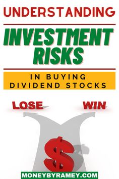 In a dividend investing strategy, each stock purchase falls onto the investment risk spectrum continuum.nnAt one end of this spectrum are lower-yielding stocks that are generally considered less risky. Click the photo to learn more about Understanding Investment Risks in Buying Dividend Stocks. #ideas #investing #stocks #dividend #finance #financialplanning #financialfreedom #money #moneymanagement #investments #tips #howto Managing Money, Money Saving Tips, Financial Goals, Financial Planning, How To Start A Blog, How To Make Money, Dividend Investing, Dividend Stocks, Investment Tips