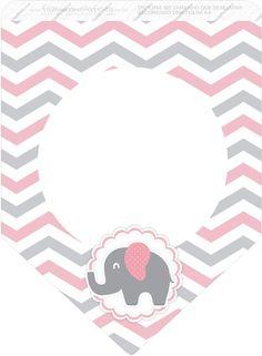 Bandera. Elefante rosa.