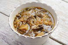 Soupe minceur - endives champignons et shiratakis de konjac